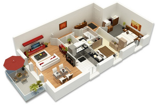 Un architecte d int rieur vous conseille toulouse lors de l achat sur plans de votre appartement for Plan amenagement interieur