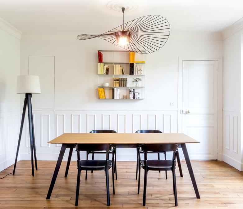 Moderniser un appartement haussmannien de 3 pi ces et 63 m2 for Salle a manger haussmannien