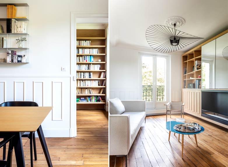 moderniser un appartement haussmannien de 3 pi ces et 63 m2. Black Bedroom Furniture Sets. Home Design Ideas