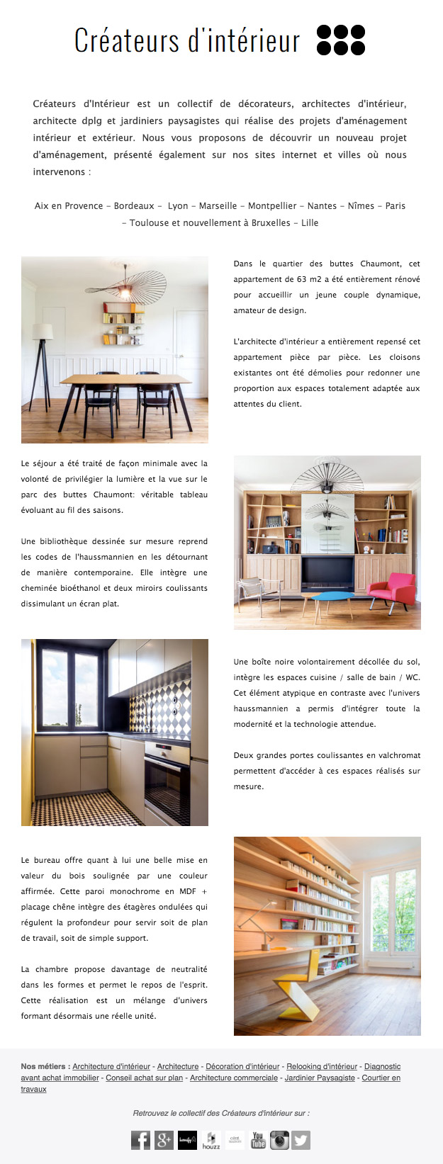 newsletter cr ateurs d 39 int rieur toulouse. Black Bedroom Furniture Sets. Home Design Ideas