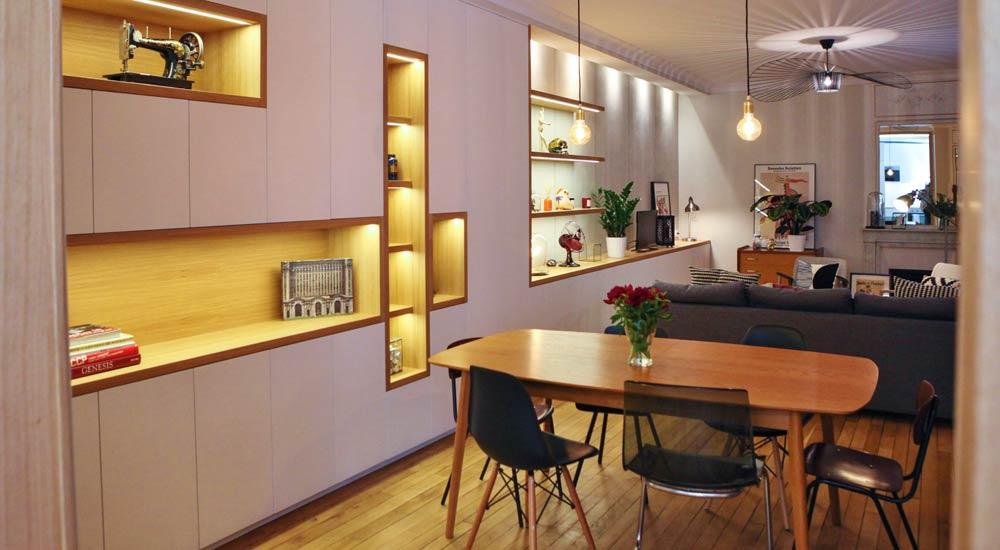 Optimiser la lumière naturelle d'un appartement 3 pièces par un architecte d'intérieur