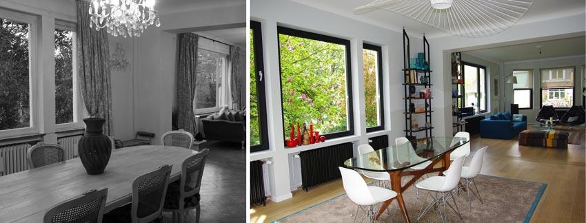 Aménagement dun salon design dans une maison de ville · avant après la rénovation dune cuisine contemporaine