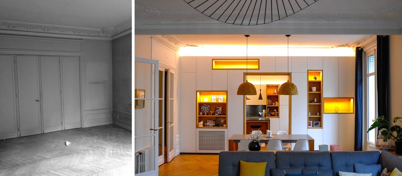 Rénovation appartement haussmannien