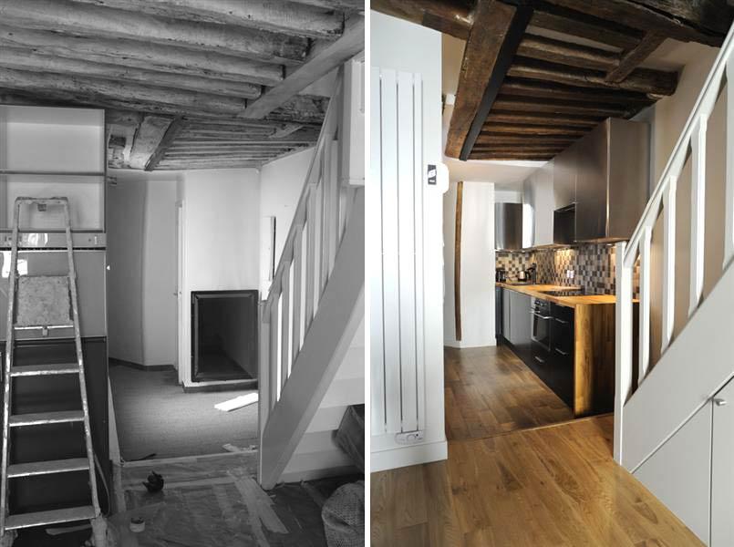 r novation d 39 un appartement 3 pi ces en duplex toulouse. Black Bedroom Furniture Sets. Home Design Ideas
