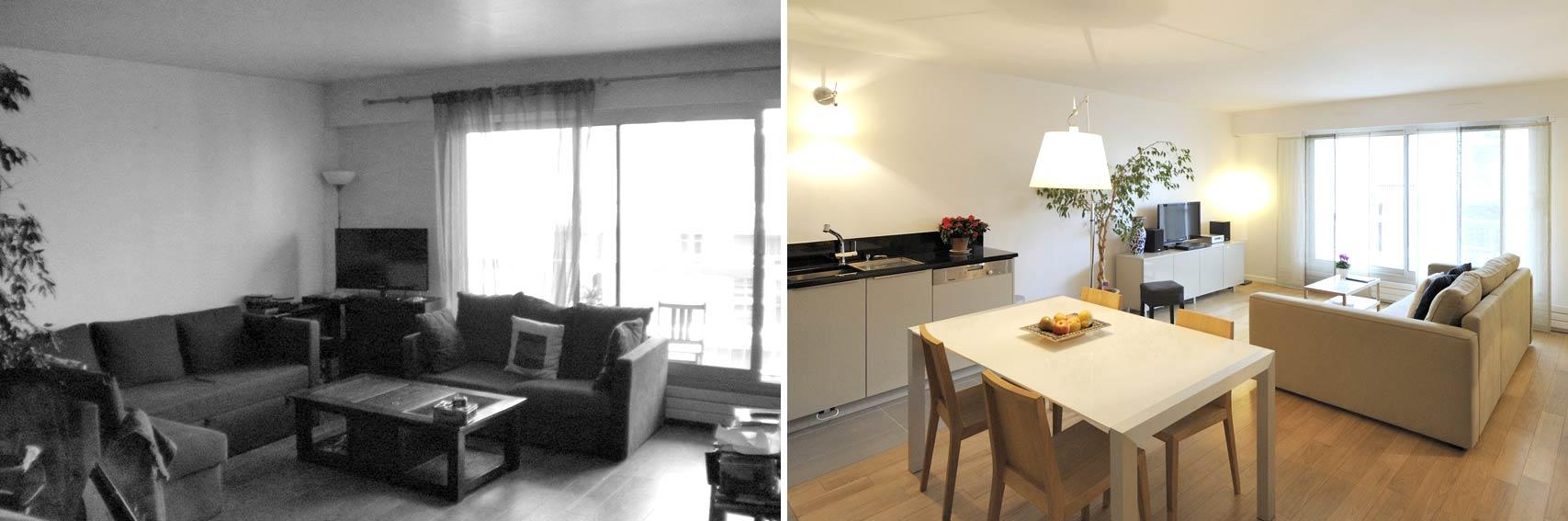 Avant apr s am nagement appartement 4 pi ces 90m2 - Relooking appartement avant apres ...