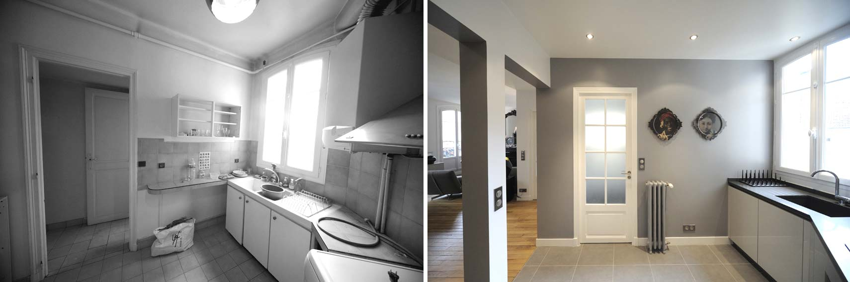 Avant apr s transformation d 39 un appartement de 65m2 du for Relooking maison interieur