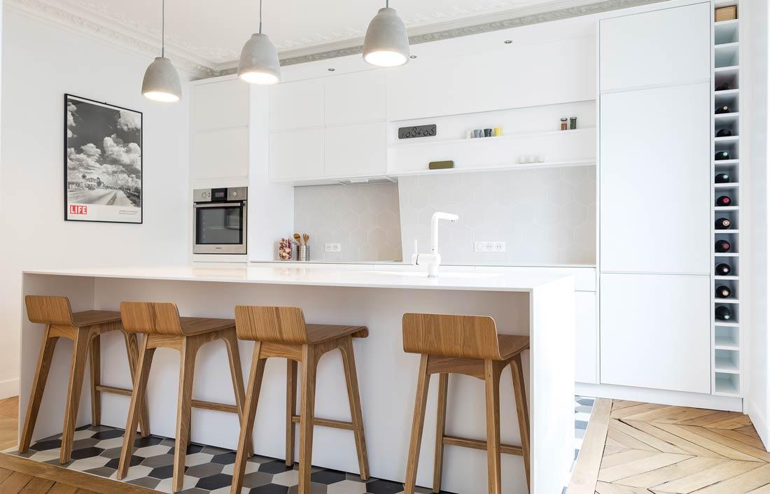 Architecture d 39 int rieur d 39 un appartement haussmannien 4 - Cuisine architecte d interieur ...