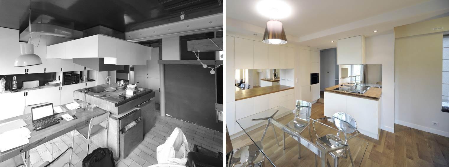 Avant apr s r novation d 39 un appartement atypique 3 for Decoration maison occasion