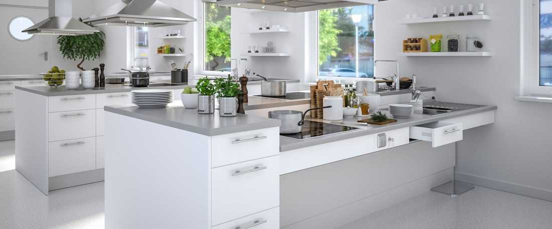 Kitchen created by an interior architect specialised in accessibility in Toulouse