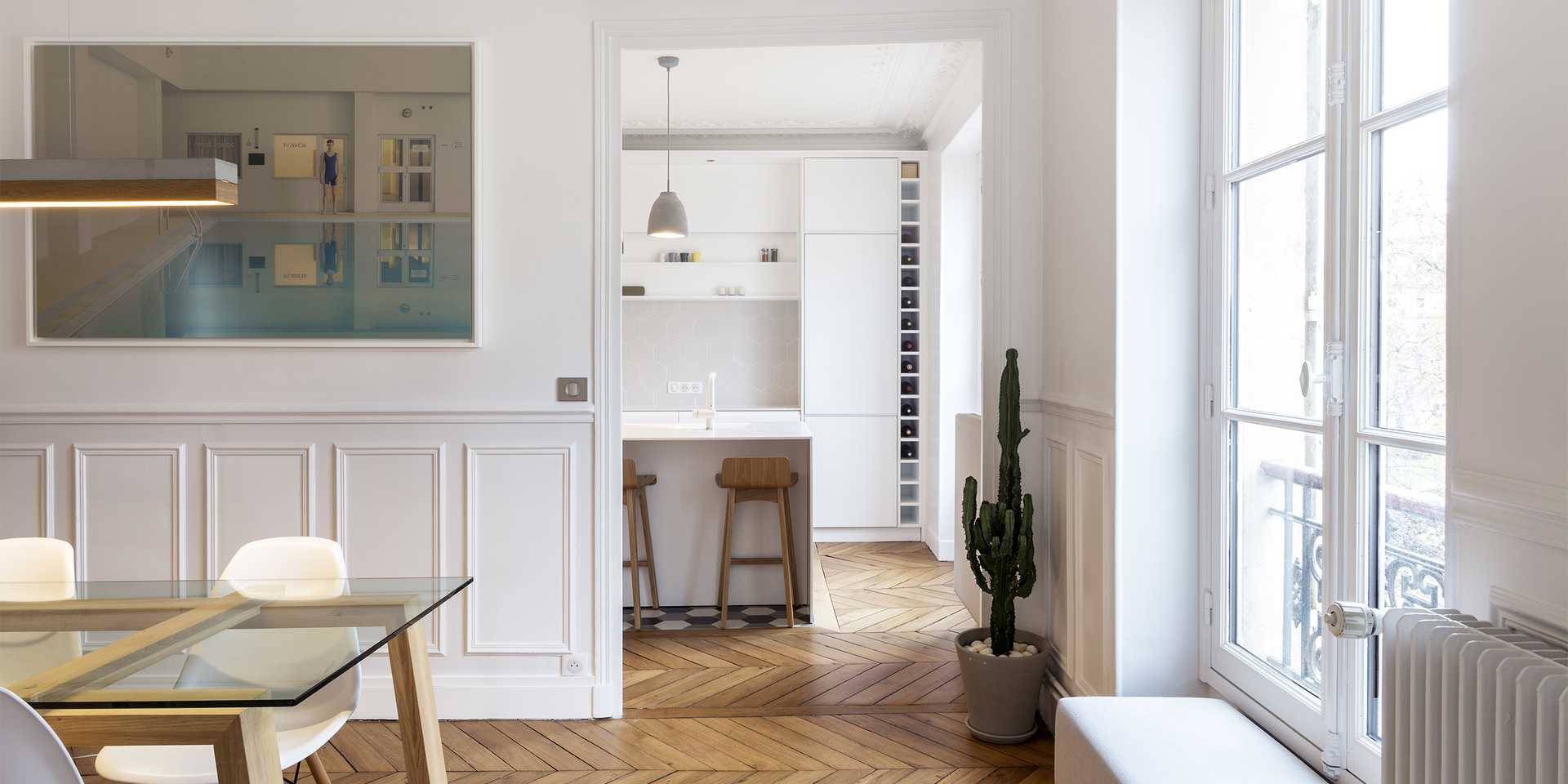 Haussmannian apartment redesigned by an architect in Toulouse